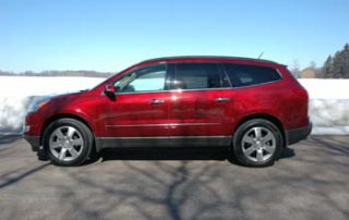 From the side, the Traverse is not far in stature from a full-size SUV