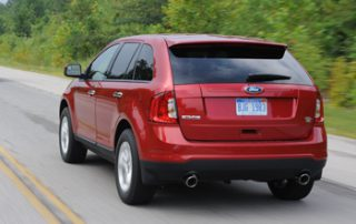 MSRP figures for the 2011 Ford Edge stretch from $27,220 (SE with FWD) to $38,070 (Sport with AWD)