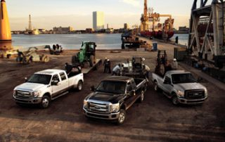 Ford offers a variety of configurations from worksite-basic to plush