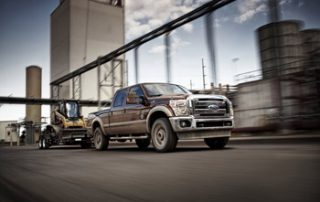 The F-250 Super Duty can tow 24,400 pounds, or carry a payload of 6,520 pounds
