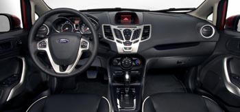 The cabin is outfitted in quality materials and includes features normally not offered in the subcompact class