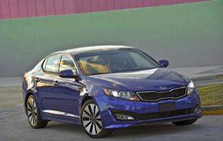 Kia has included all the luxury bells and whistles in this mid-size sedan- a package with lots of standard stuff at a reasonable price