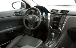 The steering wheel offers substantial grip and provides redundant audio controls so you can keep your eyes on the road