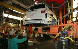 Acadia on the production line