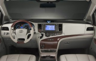 The interior borrows inspiration from the fresh new Prius in its overall design motifs and its wavy dashboard texture