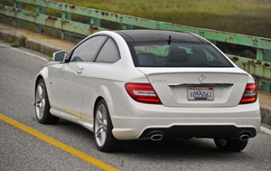 2012 Mercedes-Benz C 350 Coupe Rear View