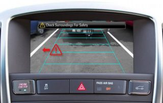 a backup camera to help manever out of the garage without slicing off a mirror