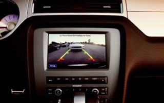 The 2013 Ford Mustang offers rear view camera, which is activated when the car is shifted into reverse.