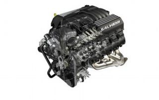 6.4-liter HEMI V-8 engine cutaway for Jeep® Grand Cherokee SRT8
