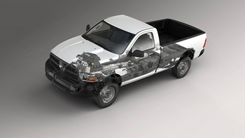 2013 Ram 1500 Pentastar V-6 engine and 8-speed automatic transmission deliver up to 20 percent better fuel economy when compared to the previous V-6 p