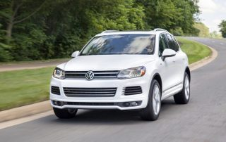 front of the 2014 Volkswagen Touareg TDI