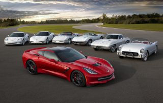 the many faces of Corvettes