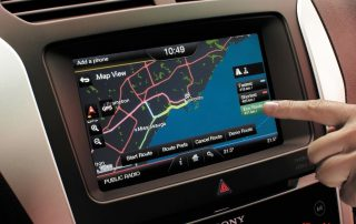 Navigating in a 2014 Ford explorer