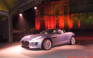 2015 Jaguar F-Type  all-new, two-seater, Jaguar sports car at an exclusive event at Musee Rodin, Paris