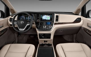 2015 Toyota Sienna front row