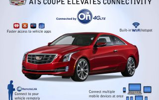 2015 Cadillac ATS coupe with hotspot