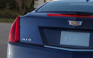2015 Cadillac ATS coupe from behind