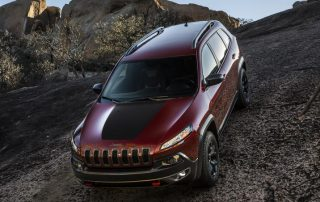 2016 Jeep Cherokee Trailhawk in it's favorite position