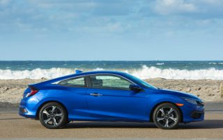 2016 Honda Civic Coupe from the side