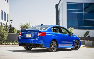 2016 Subaru WRX from the rear