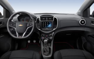 2017 Chevrolet Sonic front row dash view