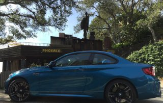 2017 BMW M2 coupe at Nepenthe, Big Sur, California