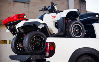 2017 Honda Ridgeline ATV loaded in bed