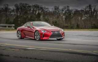 2018 Lexus LC500 on the track