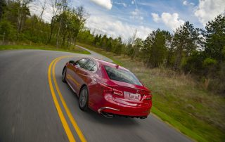 2018 Acura TLX  driving away