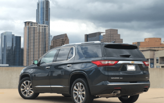 2018 Chevrolet Traverse from the rear