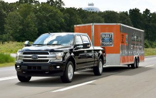2018  Ford F-150 pulling trailer load