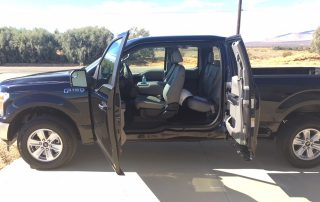 2018 Ford F150 pickup wide open