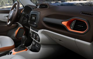 2017 Jeep Renegade from co-pilot seat
