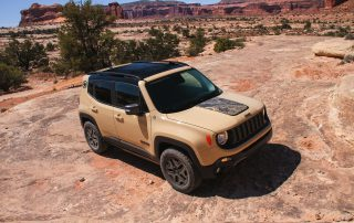 2017 Jeep Renegade in the dirt