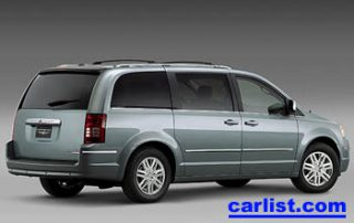 2008 Chrysler Town & Country rear shot