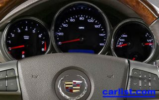 2008 Cadillac CTS Sedan gauge display