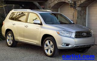 2008 Toyota Highlander CUV front view
