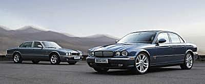 Jaguar XJ (right) with the previous generation XJ