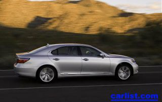 2008 Lexus LS 600h L hybrid sedan rear perspective