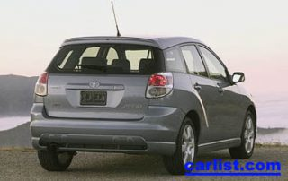 2006 Toyota Matrix rear perspective