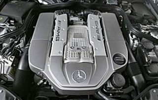 Mercedes-Benz E55 AMG V-8 5.5-liter supercharged engine