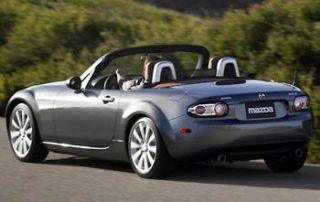 2007 Mazda MX5 Convertible rear shot
