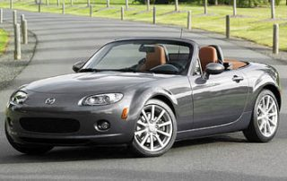 2007 Mazda MX5 Convertible front view