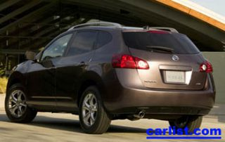 2008 Nissan Rogue rear view