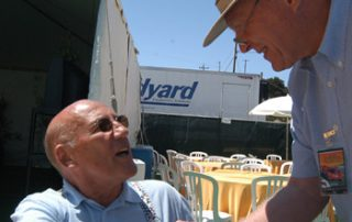 Sir Stirling Moss and Dan Gurney at Monterey Historics Races