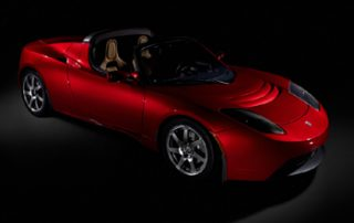 2008 Tesla Roadster front view