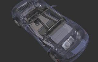 2008 Tesla Roadster wireframe view