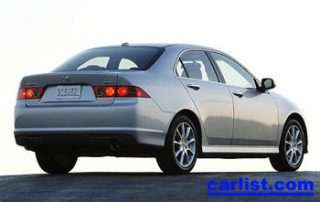 2007 Acura TSX rear view