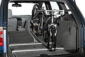 Interior integrated bike rack